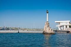 Scuttled Warships Monument in Sevastopol, Crimea Stock Image