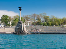 Scuttled Warships Monument in Sevastopol, Crimea Royalty Free Stock Photography