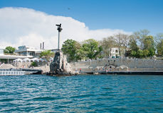 Scuttled Warships Monument in Sevastopol, Crimea Royalty Free Stock Image