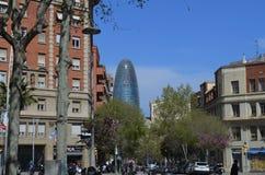 Scyscraper яичка в Барселоне Стоковое Изображение