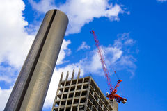 Scyscraper building site Royalty Free Stock Images