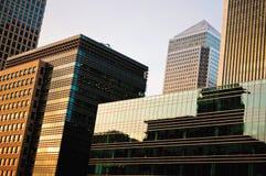 Scyscraper in Canary Wharf Stock Image