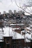 Scyscraper And Snow in Rijeka,Croatia Stock Photography