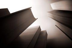 Scyscraper-wie Bücher Stockbild