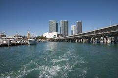 Scyscrapers del centro di Miami Fotografia Stock Libera da Diritti