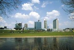 Scyscrapers em Vilnius, Lithuania Imagens de Stock Royalty Free