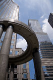 Scyscrapers en Manhattan. Foto de archivo libre de regalías