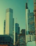 Scyscrapers van Frankfurt, verticaal beeld royalty-vrije stock foto