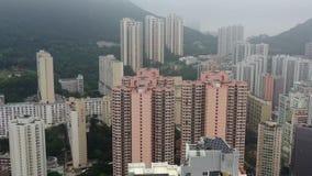 Scyscrappers fr?n Hong Kong stock video
