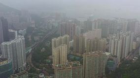 Scyscrappers van Hong Kong stock video