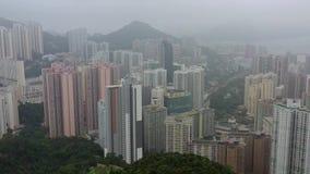 Scyscrappers van Hong Kong stock footage