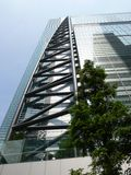Scysraper in Tokyo. High business building in Tokyo royalty free stock photography