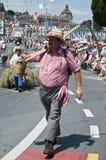 The scythe man Stock Photo