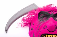 Scythe and mask Stock Photos