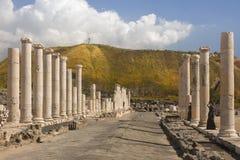 Scythopolis废墟  库存照片