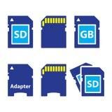 SD,存储卡,被设置的适配器象 皇族释放例证