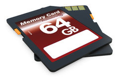 SD卡片 库存照片
