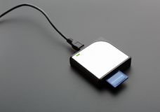 Читатель для стандартных карт памяти SD Стоковые Изображения RF