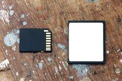 Память Sd с компактной флэш-картой Стоковая Фотография