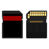 SD Card. Secure digital memory card over white background Stock Images