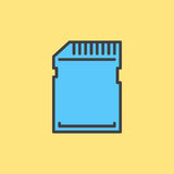 SD card filled outline icon Royalty Free Stock Photography