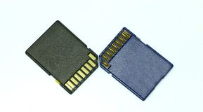 Sd-card. Image of sd-card memory on white background Stock Photography