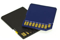 Sd-card. Image of sd-card memory on white background Royalty Free Stock Photo