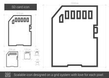 SD card line icon. Stock Photo