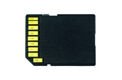 Sd card ,memory card black color Royalty Free Stock Images