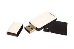 SD card reader Royalty Free Stock Photos
