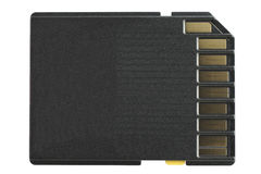 SD-Card (Rear Side) Royalty Free Stock Image