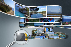 SD card saving Holiday Photos Royalty Free Stock Images