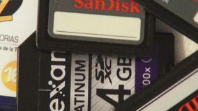 SD Cards, Smart Disks, Memory, Ram, Computers stock footage