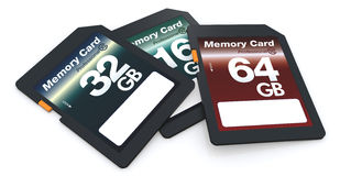 SD cards Royalty Free Stock Photo