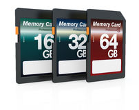 SD cards Royalty Free Stock Photos