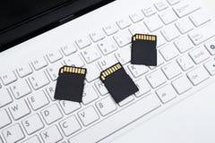 Sd-codierte Karten auf der Tastatur Stockbilder