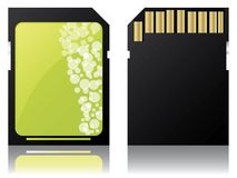 Sd disk design Royalty Free Stock Photo