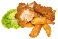 Süd-Fried Chicken Wings Lizenzfreies Stockfoto