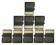 SD karta na bielu - Secure Digital dane w koronie Kształtują Obraz Stock