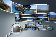 Sd-Karteneinsparung Feiertags-Fotos Lizenzfreie Stockbilder