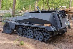 Sd.Kfz. 251/2 with mortar at Militracks event Royalty Free Stock Photography
