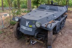 Sd.Kfz. 251/2 with mortar at Militracks event Stock Images