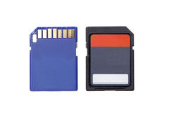 Sd memory for camera computer compact flash isolated Royalty Free Stock Images