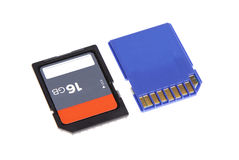 Sd memory for camera computer microdrive compact flash isolated Stock Photo