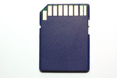 SD memory Card. Blue color SD memory Card Royalty Free Stock Photo