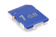 Sd memory card. On the white background Stock Photos