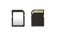 SD memory card isolated on white background Royalty Free Stock Image