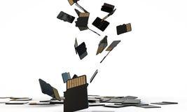 Sd memory cards Stock Image