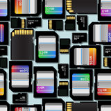 SD Memory Cards Background Stock Photos