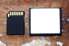 Sd memory with compact flash card Royalty Free Stock Photography